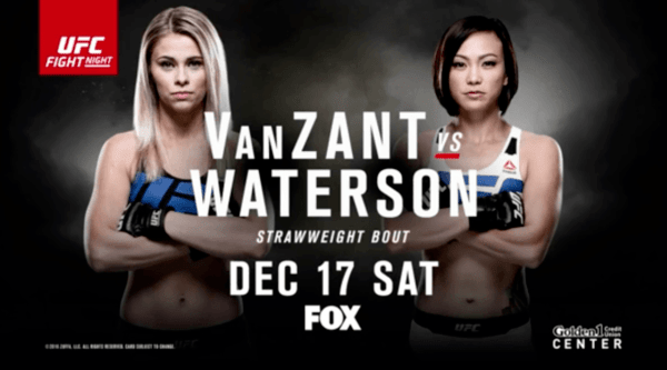 Watch UFC ON Fox 22 – VanZant Vs Waterson 12/18/16 Live Online Full Show | 18th December 2016