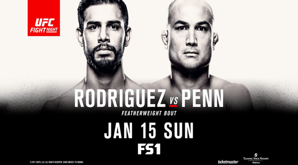 Watch UFC Fight Night 103 Rodriguez Vs Penn 1/15/17 Live Online Full Show | 15th January 2017