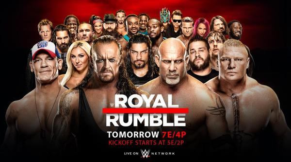Watch WWE RoyalRumble 2017 1/29/17 Full Show Free Live 23rd January 1/29/2017