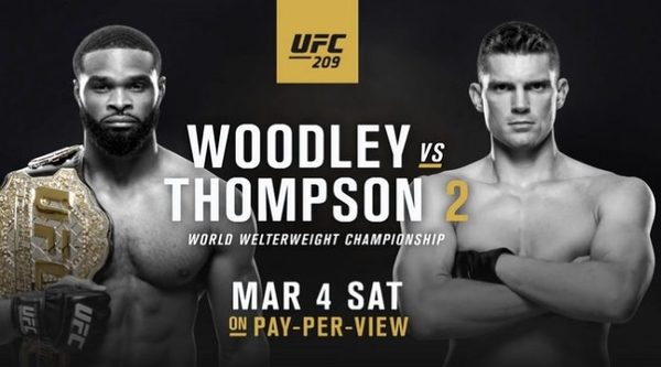 Watch UFC 209 – Woodley Vs Thompson 2 3/4/17 Live Online Full Show | 4th March 2017