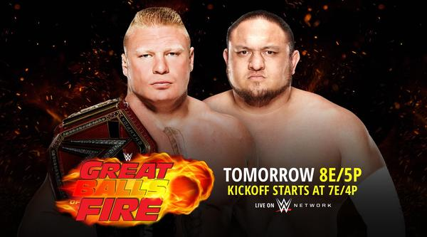 Watch WWE Great Balls Of Fire 2017 PPV Live 6/18/17 Live Online Full Show | 18th June 2017