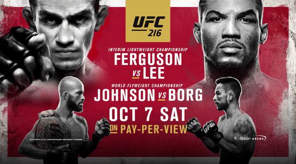 Watch UFC 216 – Ferguson Vs. Lee 10/7/17 Live Online Full Show | 7th October 2017
