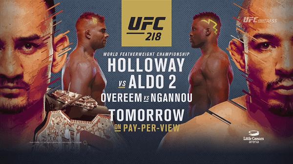 Watch UFC 218 Holloway Vs Aldo 2 12/2/2017 Live Online Full Show | 2nd December 2017