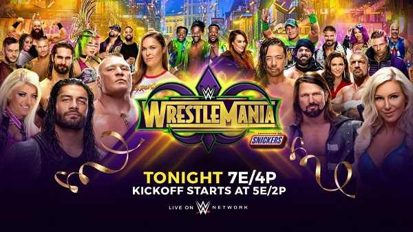 WWE WrestleMania 34 2018 PPV 4/8/18