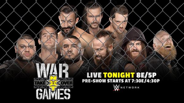 Watch WWE NxT TakeOver – WarGames Live 11/18/17 Live Online Full Show | 18th November 2017