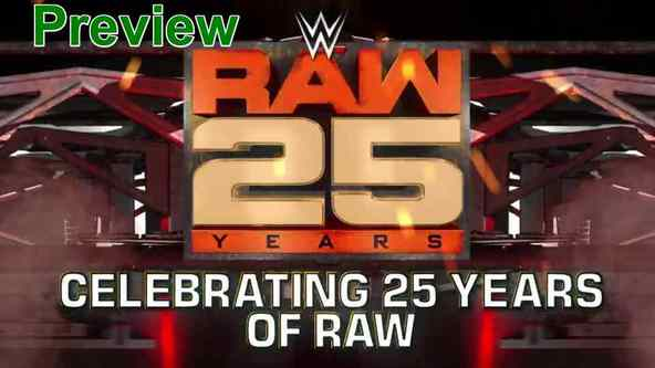 Watch WWE Celebrating 25 Years Of Raw Live Online Full Show | January 15th 2018