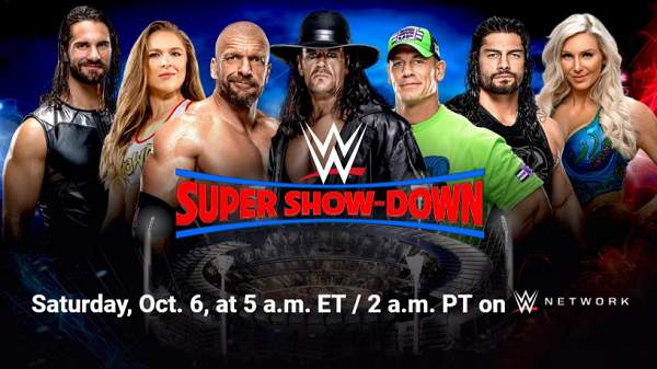 Watch WWE Super Show-Down 2018 PPV 10/6/18 Live Online Full Show | 6th October 2018